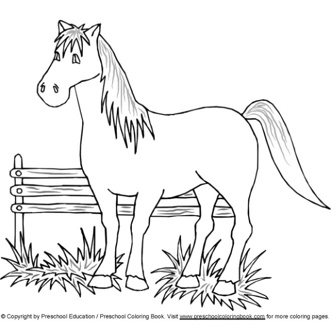 preschool horse coloring pages - photo#30