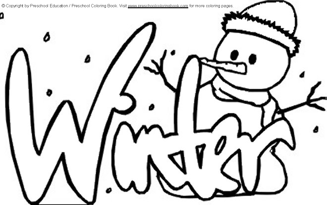free winter coloring pages for kids - winter coloring page